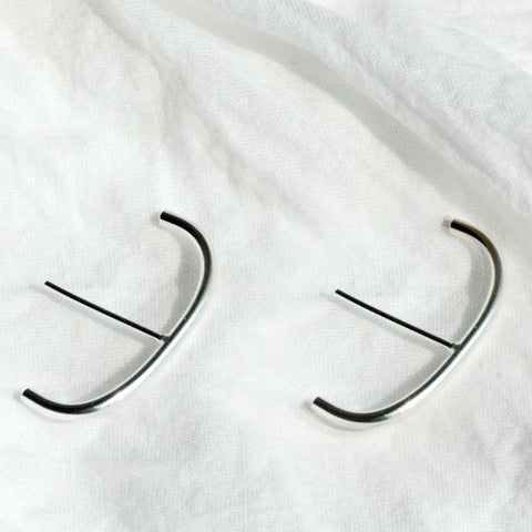Huggie Suspender Hoops Earrings