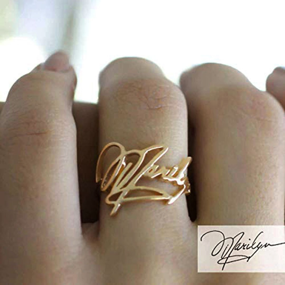 (Personalized) Handwriting Rings