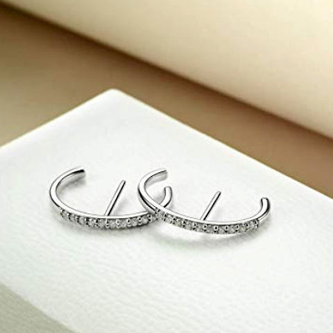 Huggie Ear Crawler-Cuff Earrings