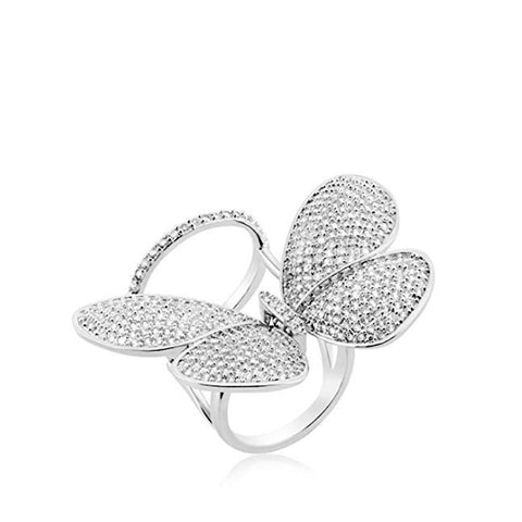 CZ Butterfly Cocktail Ring