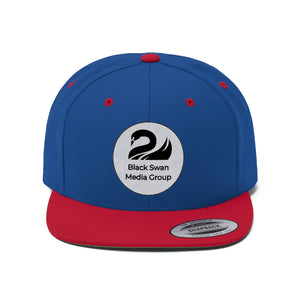 Black Swan Media Group Flat Bill Hat