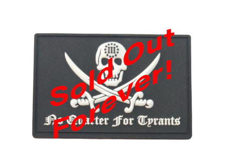 The Crumpy Militia No Quarter For Tyrants PVC Patch
