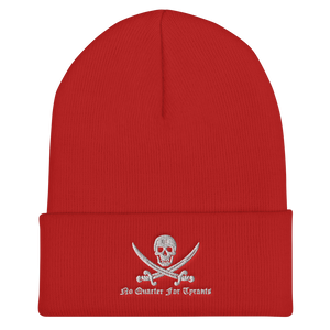 No Quarter For Tyrants Cuffed Beanie