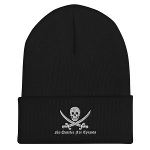 Crumpy Milita No Quarter For Tyrants Cuffed Beanie