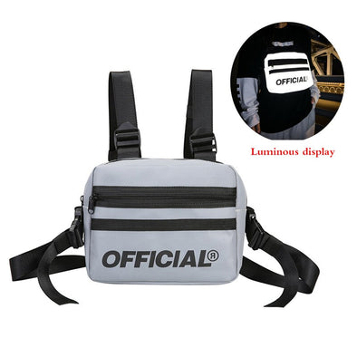 OFFICIAL Reflective Quad-Strap Chest Utility Chest Bag