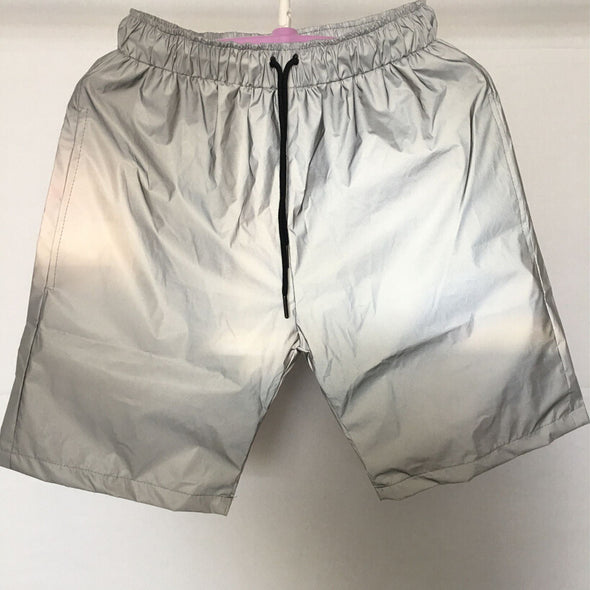 Urban-Kings Reflective Men's Joggers/Shorts Gray