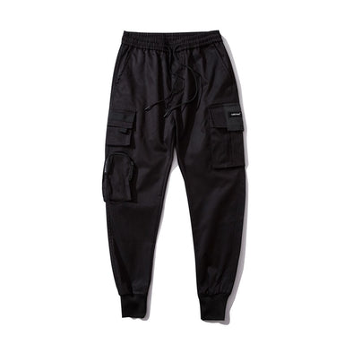Urban-Kings™ | Black Cargo Joggers