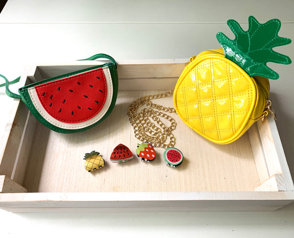 'Fruit' Shoulder Bag Collection Pineapple & Watermelon