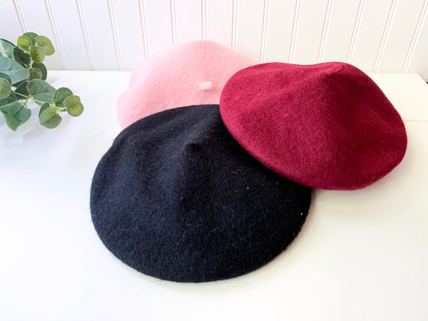 'Mia' Berets (3 Color Options)