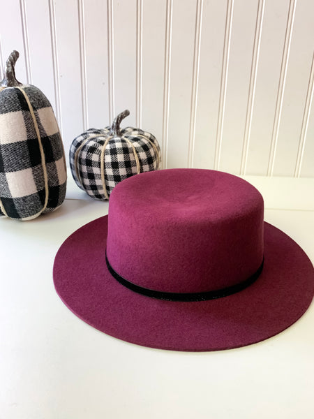Zara Boater Hat (3 color options)