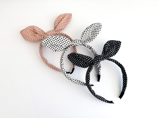 Small Polk A Dot Headband (3 Colors)