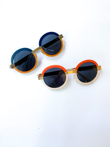 Two-Tone Retro Round Sunglasses (2 Colors Available)