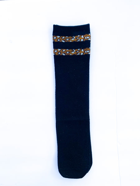 Striped leopard knee highs (4 colors)