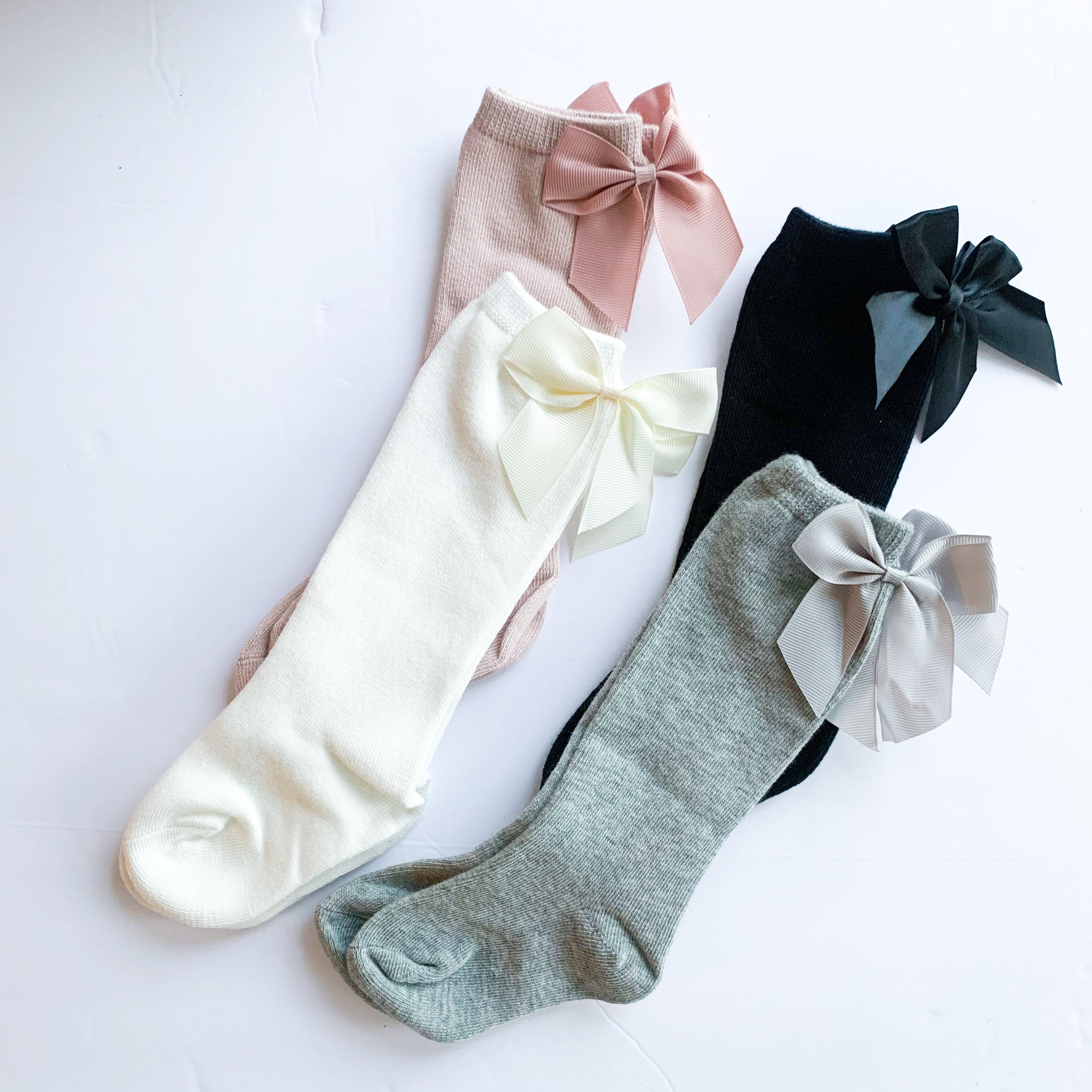 Back Bow Knee Highs (4 color options)
