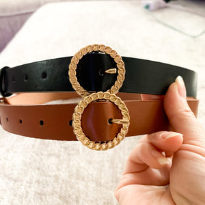 Round Buckle Belt (2 color options)