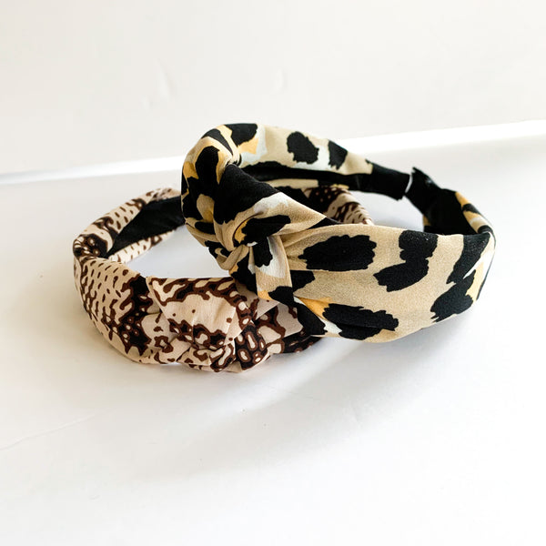 Printed Knot Headbands (2 color options)