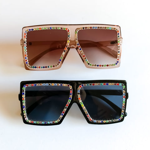 Rhinestone Kylie Sunglasses (2 color options)
