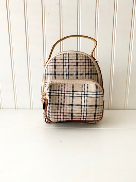 Cassie Plaid Bag/backpack