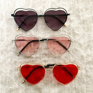 Rimmed Heart Sunglasses ( 3 color options)
