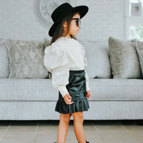 ERICA Faux Leather Skirt
