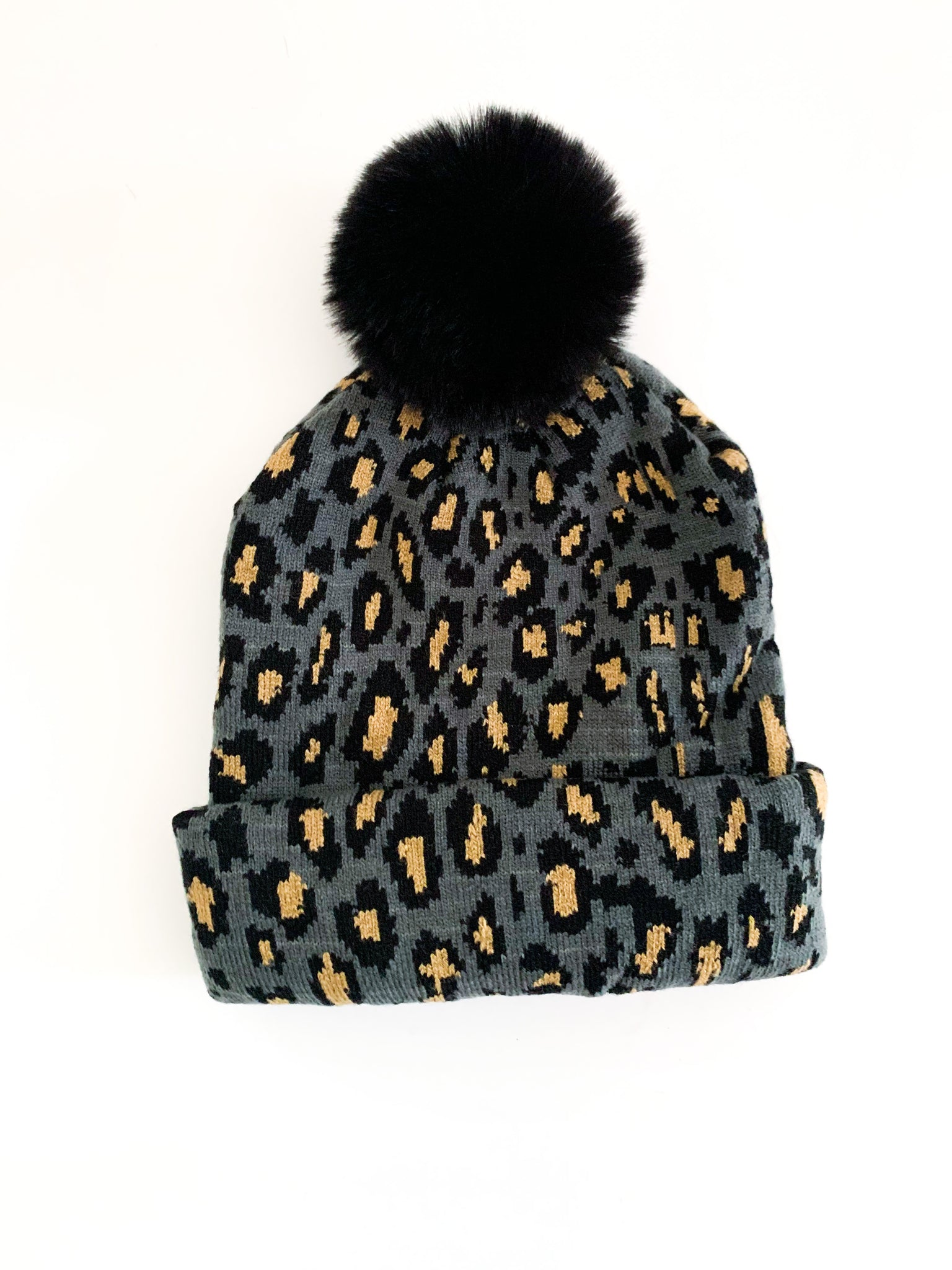 Leopard Beanie (3 Color options)