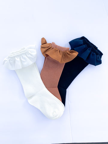 Ruffle knee highs (3 color options)