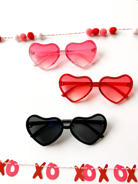 Heart Shaped Sunglasses (3 Color Options)