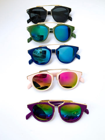 GABRIELLA Mirrored Sunglasses (5 Color Options)