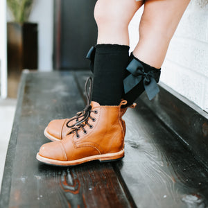 Side Bow Knee Highs (3 color options)