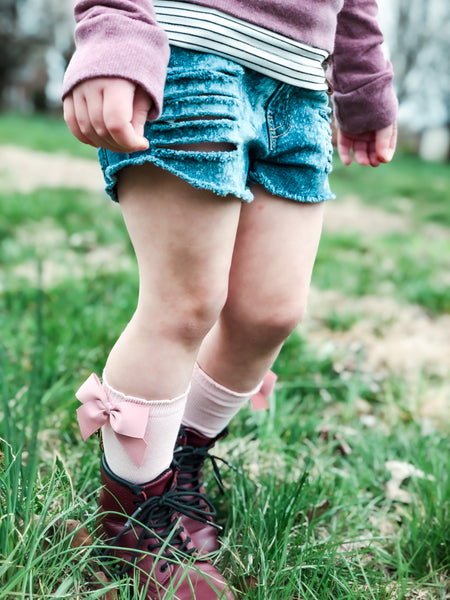 Side Bow Knee Highs (5 color options)