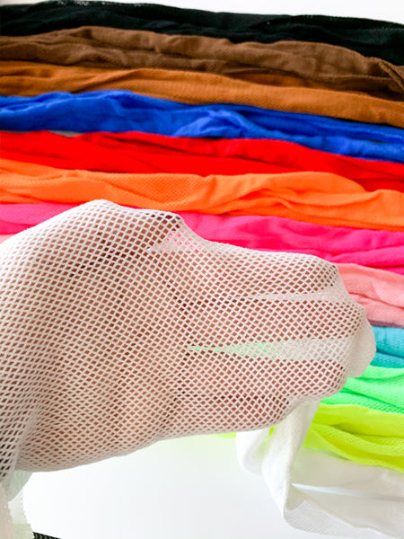 Fishnet tights (12 color options)