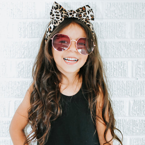 Leopard Headband Satin