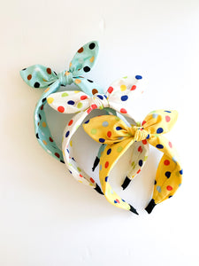 Colorful Polk A Dot Headbands (3 Color options)