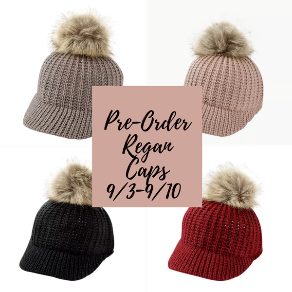 'Regan' Caps (6 color options)