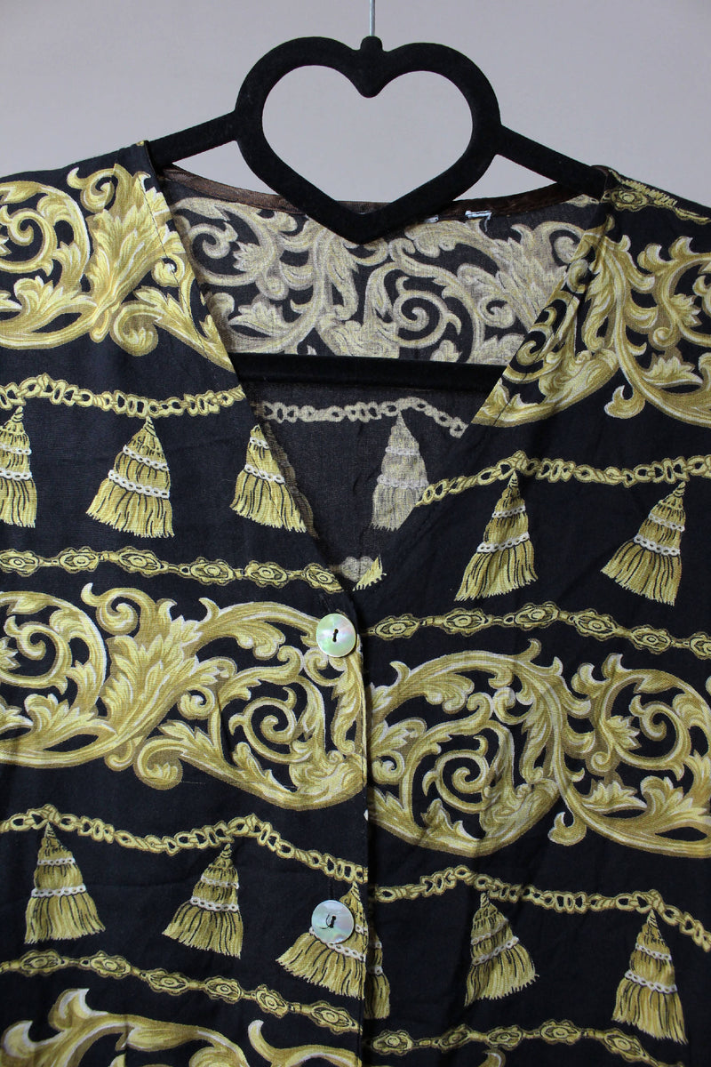 Soft shirt with gold print | XL
