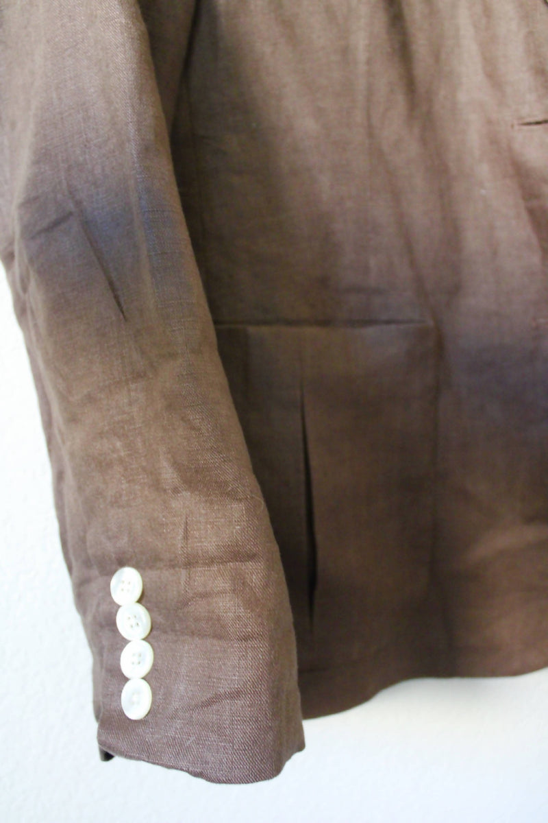 Essential Vintage Brown Linen Blazer