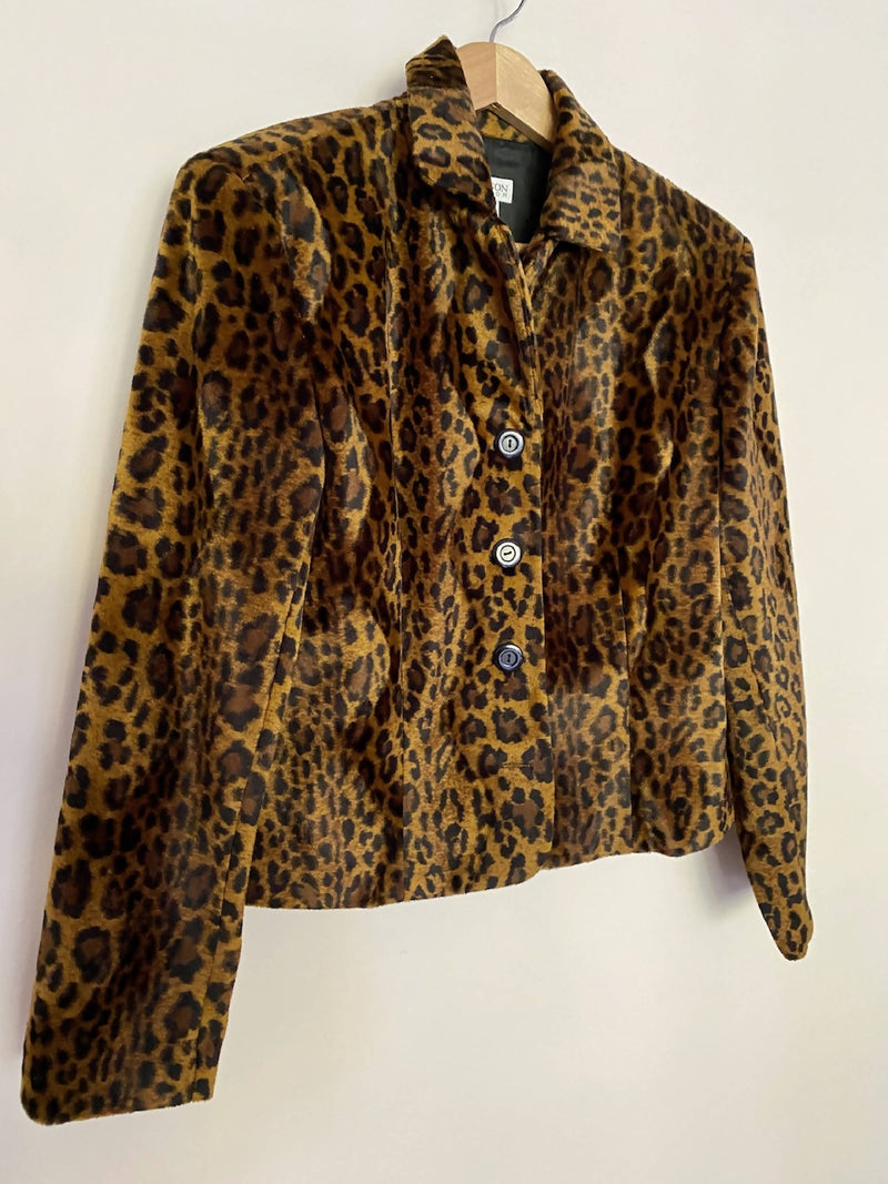 1990's Leopard Crop Jacket
