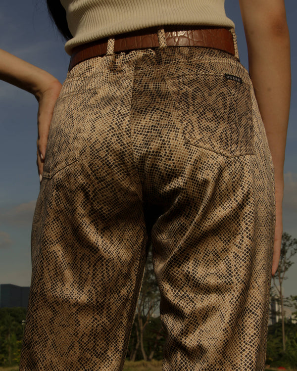 Vintage Guess Cobra Print Trousers