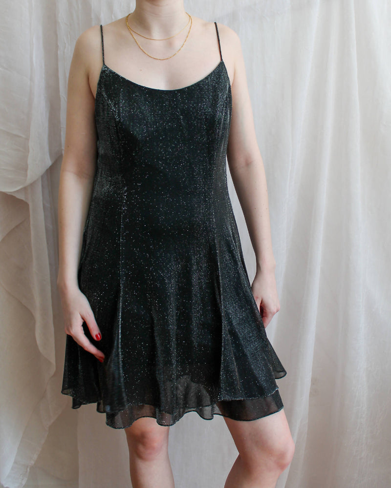 Vintage Sparkly Mini Dress
