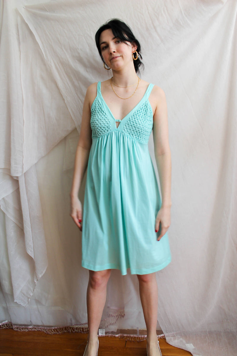 Vintage Teal Mini Dress