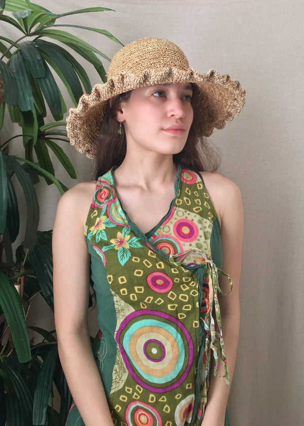 Avocado Green Bohemian Wrap Dress