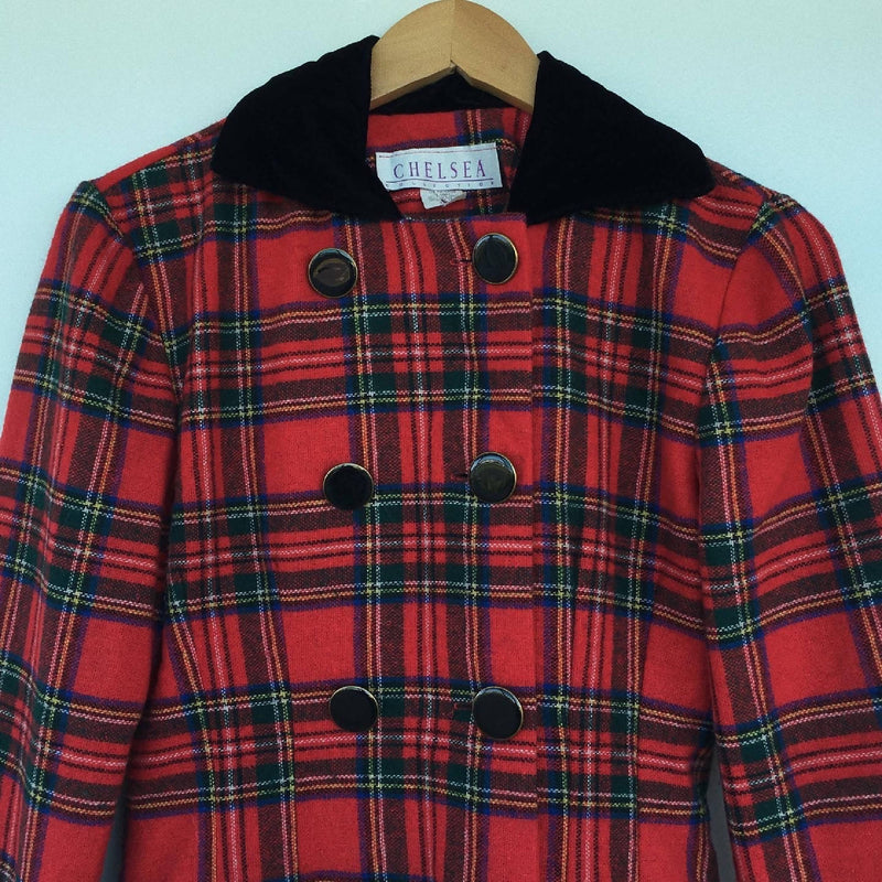 Vintage 1990's Clueless Style Plaid Jacket