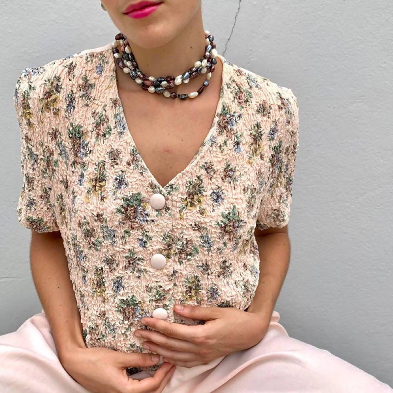 Wideleg Flower Top Jumpsuit