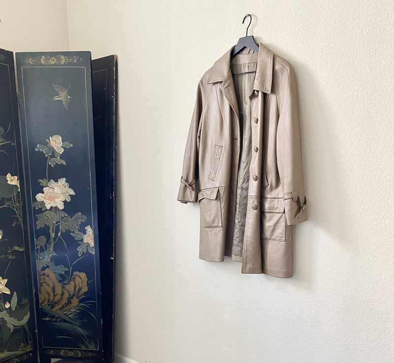 Vintage Supreme Leather Trench