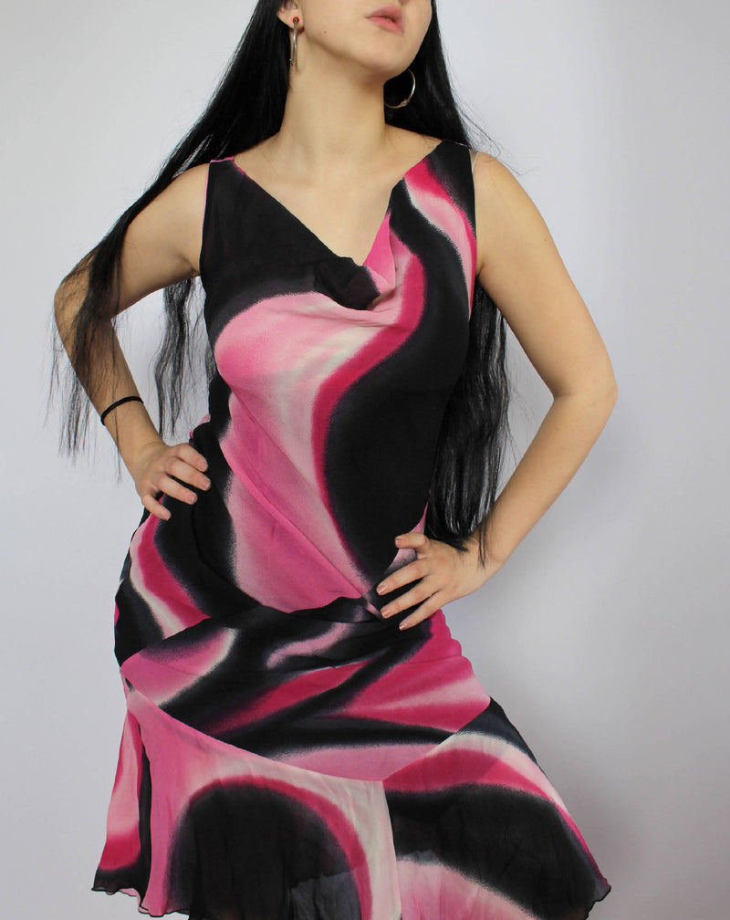 Draped Asymetric Dress