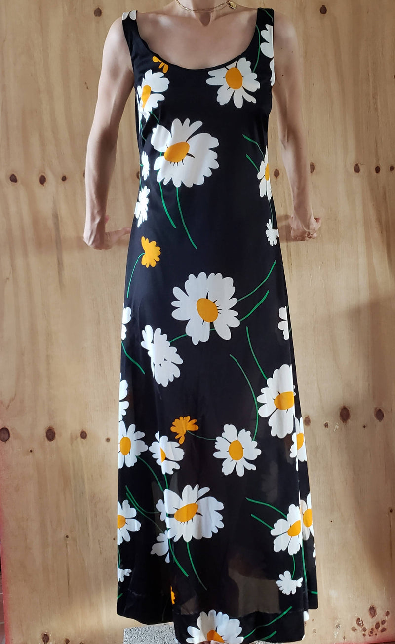 1970s Gottex Coverup Maxi Dress Daily Print