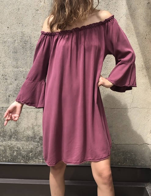 Off shoulder dress made in Italy