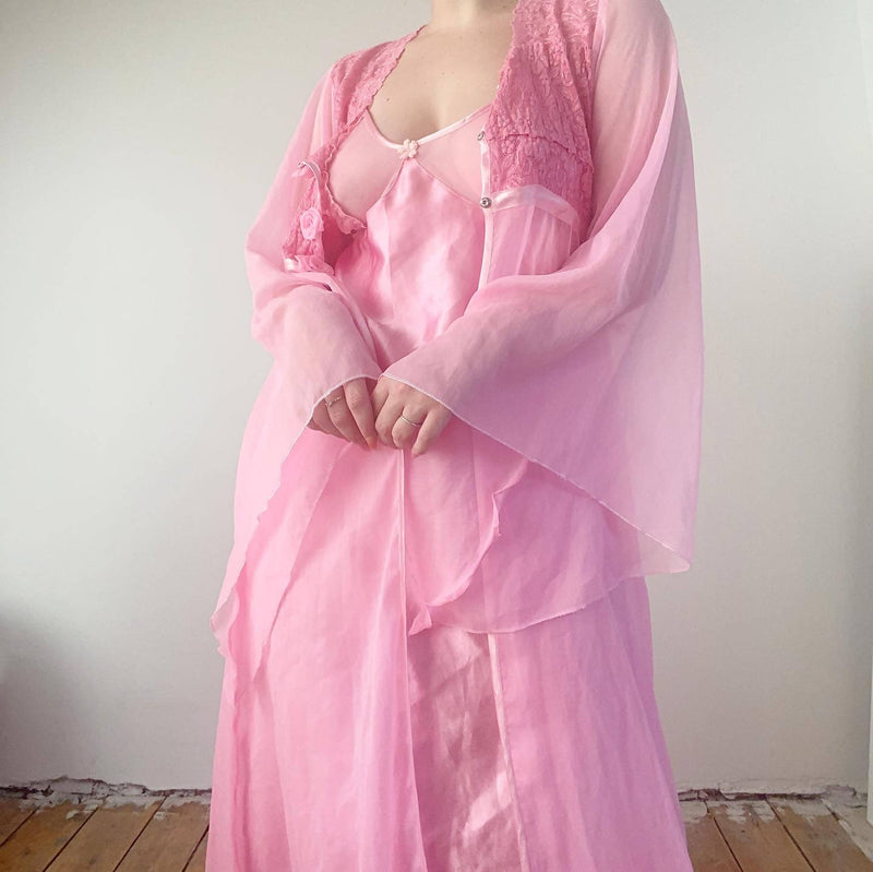 90s lingerie gown