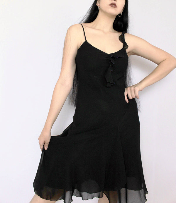 90s Black Dress | Medium