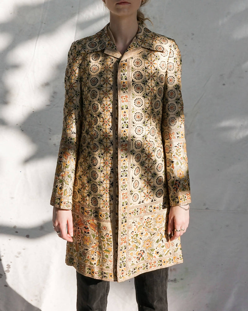 Vintage Hand Embroidered Long Jacket